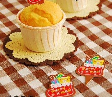 (甜心手作坊)聖誕節蛋糕裝飾插卡 蛋糕插牌50個(G款)