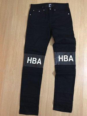 HBA hood by air 黑色拼接 牛仔長褲 115