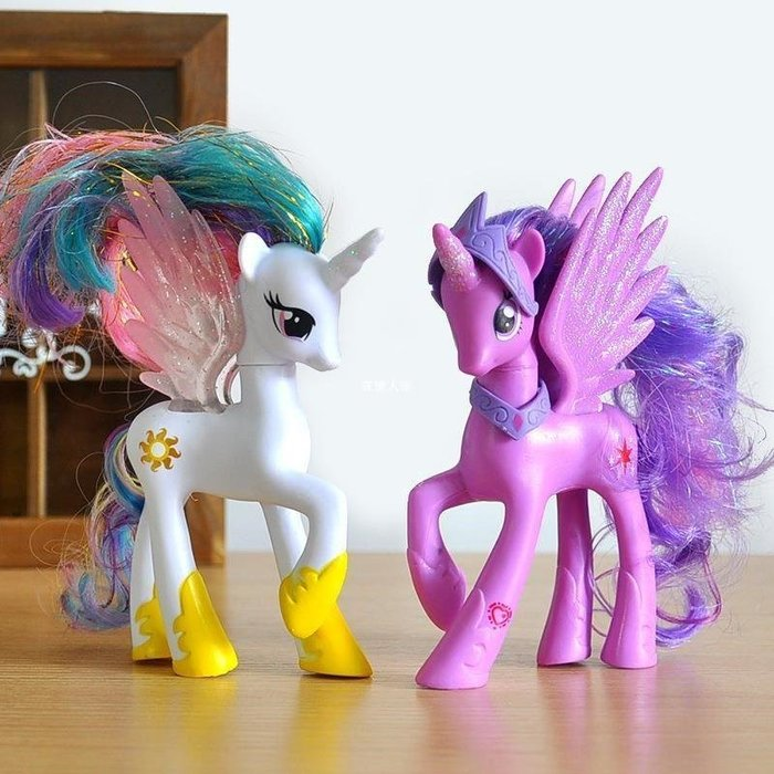 {慕斯莊園} 1小馬寶莉玩具塑料公仔紫悅寶宇宙公主手辦獨角獸擺