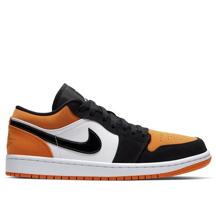 【A-KAY0】NIKE AIR JORDAN 1 LOW 扣碎 皮革 黑白橘【553558-128】