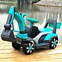 兒童電動挖掘機男孩玩具車挖土機可坐可騎大號鉤機不帶遙控工程車 一件免運