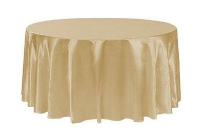 居家家飾設計 桌巾/圓檯布380cm圓 緞面布 一條起訂 適用240cm/270cm/300cm圓桌 雙針車邊