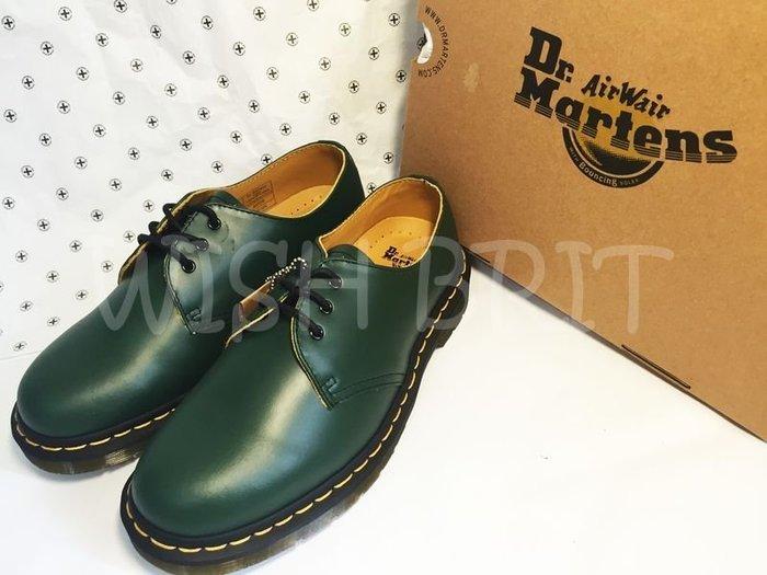 【~希望~完美馬汀】Dr. Martens 1461 3孔 ~七天鑑賞免運~  低筒 綠色 硬皮 馬汀靴 男女鞋