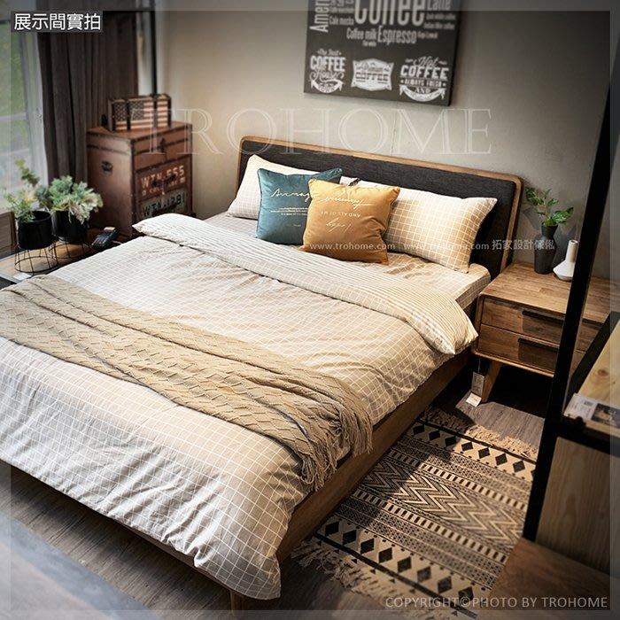 【拓家工業風家具】Holm北歐風格相思木床/被櫥式置物櫃床底棉被收納櫃三抽屜櫃/LOFT房間組五尺六尺加大雙人床