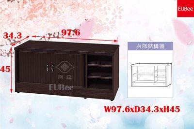 【優彼塑鋼】捲門系列(不可訂製)。3.2尺鞋櫃/鞋架/收納櫃/置物櫃/防水防蛀蟲/南亞塑鋼(FRR37)