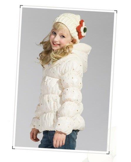 Balabala 女童羊羔絨連帽厚鋪棉公主外套 120 130 140 原價550