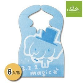 【魔法世界】Lullmini Floret 嬰幼童拋棄型圍兜 - 魔術象 (6入) 台灣設計/台灣製造