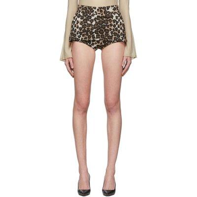 Pushbutton 豹紋 裙擺式 短褲