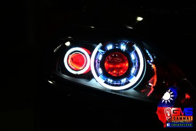 GAMMAS-HID 台中廠 FORD FOCUS MK2.5 MK2.5  遠近魚眼大燈組 LED 光圈 40瓦