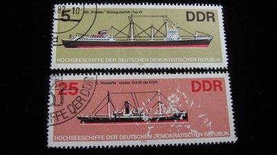 【大三元】歐洲郵票-12.德國郵票-船-銷戳票2枚