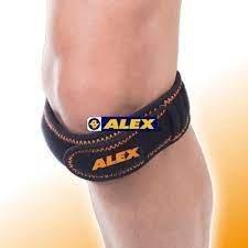 【小黑體育用品】ALEX 潮型系列-膝部雙拉式加強帶 台製 專業運動款─專利雙拉式設計 壓制凸點 N-03