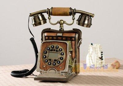 218 華城小鋪*超取當日出貨* 古董 仿古 鄉村 美式 民宿 復古 有線 來電顯示 老式相機造型電話
