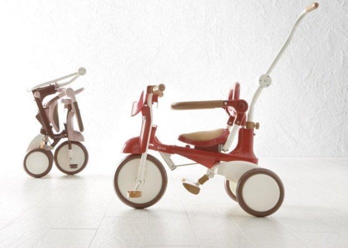 【魔法世界】 日本 iimo【升級款】兒童三輪車 (折疊款) 三色