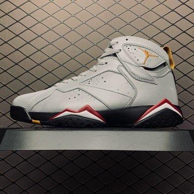 NIKE AIR JORDAN 7 RETRO SP 銀灰色 反光 復古 高筒 籃球鞋 BV6281-006 男鞋