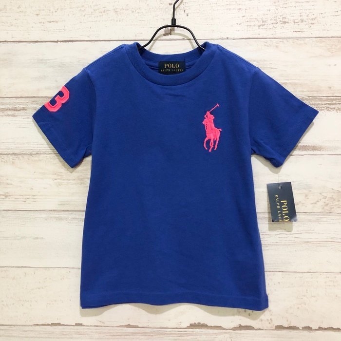 Maple麋鹿小舖 美國購買童裝品牌POLO RALPH LAUREN 男童藍色LOGO短T* ( 現貨多尺寸 )