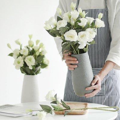 【蘑菇小隊】北歐現代簡約陶瓷擺件花瓶客廳辦公藝術裝飾品-MG54533