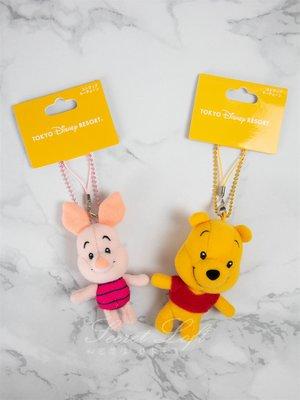 【秘密閣樓】日本迪士尼 維尼系列 娃娃 吊飾 玩偶 小熊維尼 小豬 日本代購