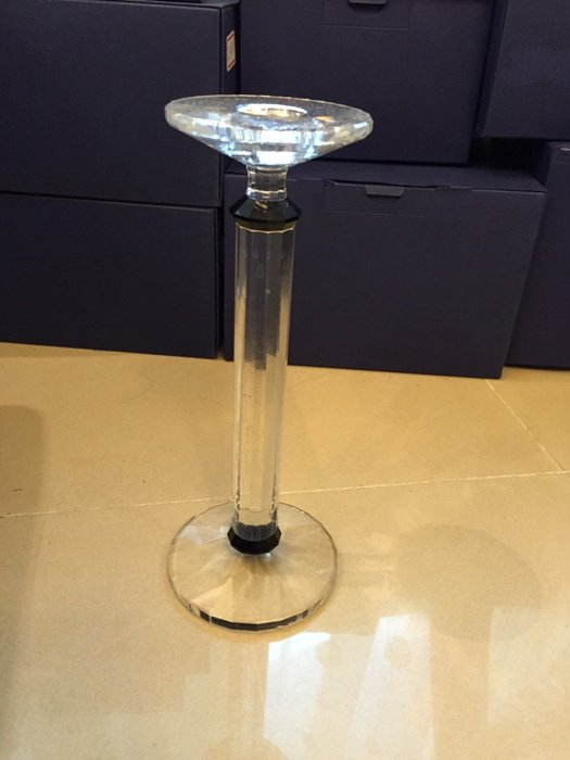 施華洛世奇 水晶(Mendini燭台∼含證書)限量1000件 1995年 已絕版(另太極會員筆大鸚鵡豹公牛馬)