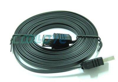 小白的 工場~FJ  US2013  USB2.0 延長線 扁線  A公對A母 3M 黑 ~