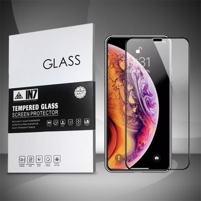 IN7 APPLE iPhone XS Max (6.5吋) 高透光2.5D滿版9H鋼化玻璃保護貼 疏油疏水 鋼化膜