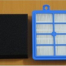 Electrolux 伊萊克斯吸塵器 HEPA ZUA3860 用 一套=一缺角水洗黑棉+一藍濾網