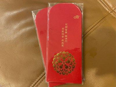 《花開富貴 金鼠迎春》花旗銀行 紅包袋2包 每包有6個