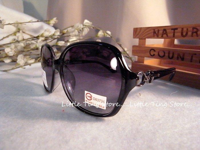 MIT台灣製造 側邊金屬D膠框鏡架UV400太陽眼鏡防風防曬眼鏡 直購380(黑色)
