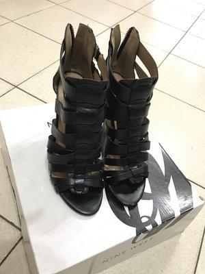NINE WEST 黑色羅馬高跟鞋 7.5