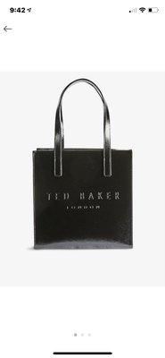 (預購)(小型)英國TED BAKER Bow icon small crinkle patent-leather tote bag 2020年新款皮革購物袋