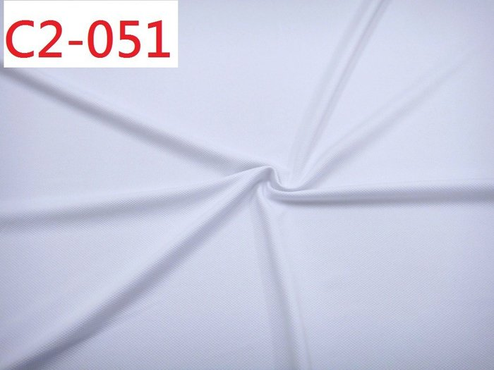 (特價10呎300元) 布料批發零售【CANDY的家2館】精選布料 C2-051 春夏白色細鳳梨目彈性針織上衣洋裝料