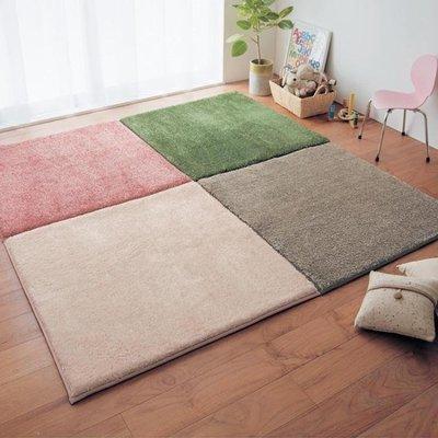 日和生活館 臥室地毯拼接茶幾家用拼圖地墊客廳滿鋪床邊腳墊榻榻米地板墊定制S686