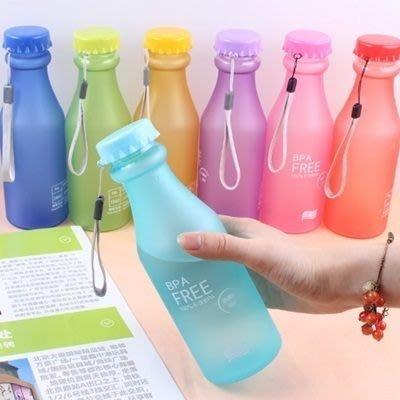摔不破汽水瓶(1入)-糖果色磨砂密風便攜運動水壺8色73pp92[獨家進口][米蘭精品]