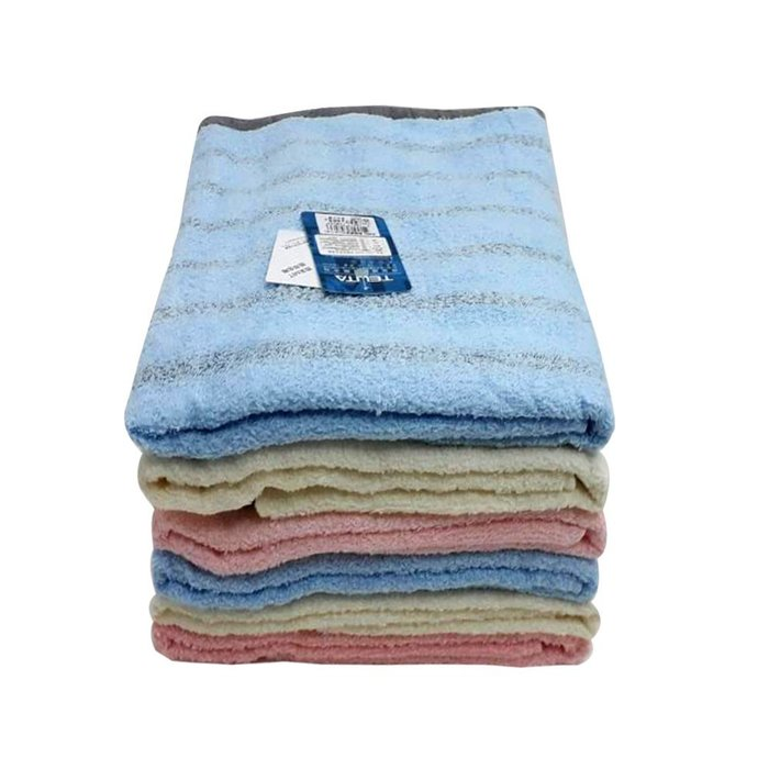 【TELITA】粉彩竹炭條紋浴巾(超值4條組)免運