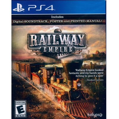(現貨全新) PS4 鐵路帝國 英文美...