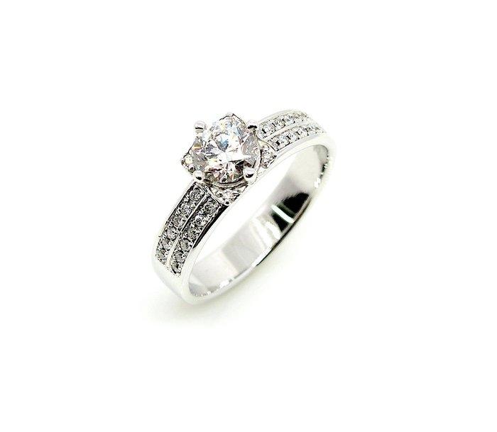 【JHT 金宏總珠寶/GIA鑽石專賣】0.58ctGIA天然鑽石女戒/E-VS1/材質:750(A5489)