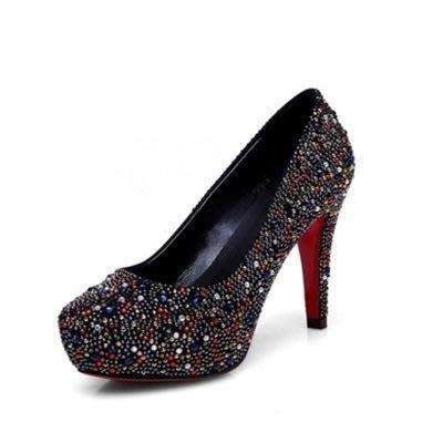 尖頭高跟鞋 水晶婚鞋-高貴性感熱賣款式女鞋子2色73e21[獨家進口][米蘭精品]