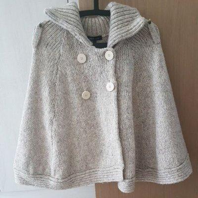 二手服飾出清*NET女裝羊毛混紡米色斗篷外套