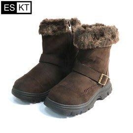 丹大戶外【ESKT】兒童雪靴 /附有簡易冰爪 雪地中不易跌倒 SN222 深咖啡