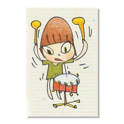 奈良美智限定海報 Nara -Banging the Drum Print