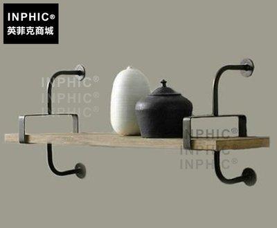 INPHIC-美式鐵藝實木擱板置物架復古水管壁掛書架一字擱板架牆上書架_S1877C