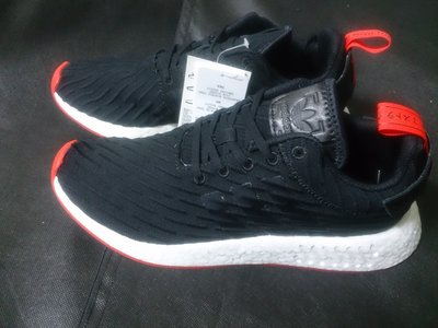 【100%正品代購現貨6.5、7.5】Adidas NMD R2 PK編織 Primeknit黑紅白BA7252 針織 男女鞋 非XR1