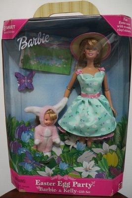 復活節彩蛋派對芭比和小凱莉Easter Barbie and Kelly 1999/盒損現貨