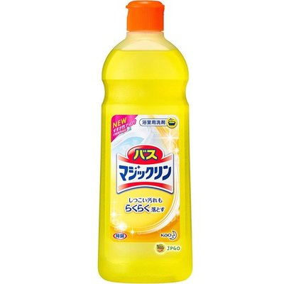 【JPGO日本購】日本製 花王kao 浴室清潔 去污+節水 485ml~罐裝 基本黃#453
