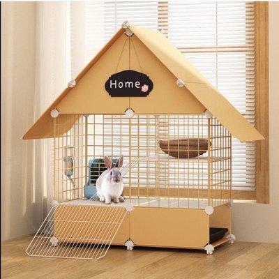 兔子籠家用荷蘭豬倉鼠房子特大號別墅帶托盤兔籠窩用品防噴尿必備天天百貨