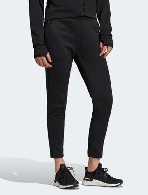 =E.P=ADIDAS W Z.N.E. Pt 女款 運動 黑色 運動褲 愛迪達 窄版 棉褲 運動長褲 EJ8749