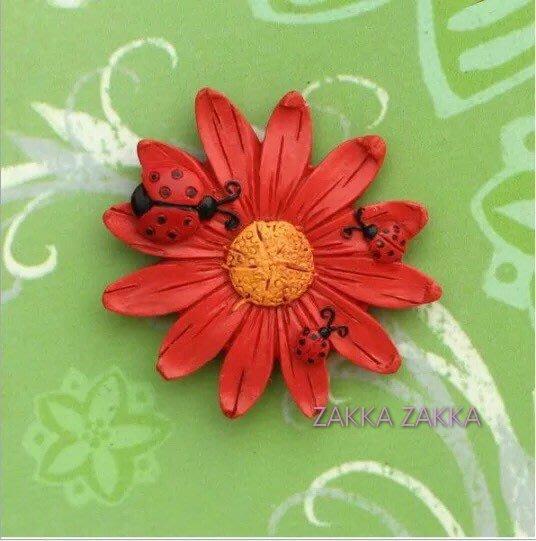 紅色花卉瓢蟲冰箱貼 辦公室小物雜貨 留言貼 磁性貼 磁鐵 復古鄉村風MEMO 冰箱磁貼 廚房用品♡幸福底家♡