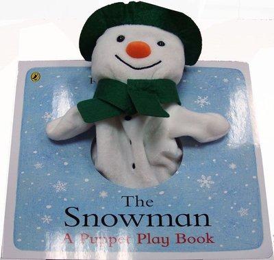 *小貝比的家*THE SNOWMAN A PUPPET PLAY BOOK /硬頁/0~2歲/手偶書