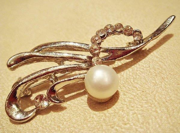 全新高貴珍珠造型胸針,低價起標無底價!本商品免運費!