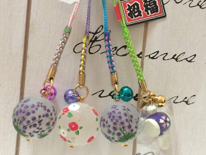 天使熊小鋪~日本帶回彩繪小花球吊飾 3款 & 招福櫻花槌 1款~日本限定手機吊飾