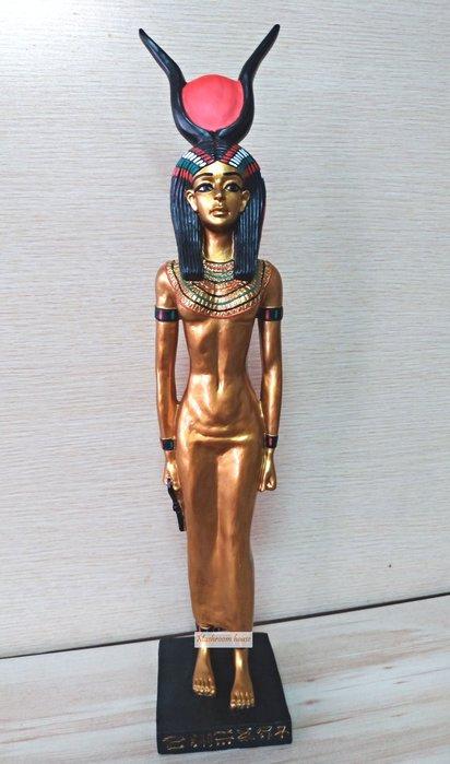點點蘑菇屋 歐洲精品古埃及伊西斯女神擺飾 Egypt 藝術品 古埃及文明 埃及古文 圖騰 尼羅河 家飾 現貨